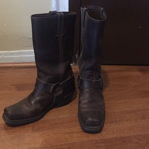 Frye boots, Harness 12R, tan, size 7M